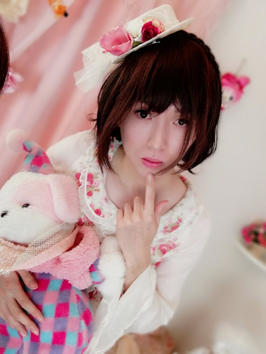 新大阪の女装サロン「ひめべや」のお客様の写真です。もりときさんのショートボブです。